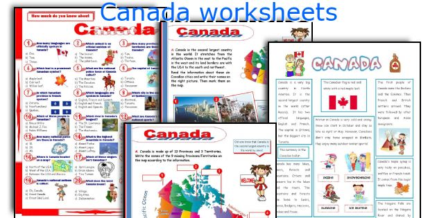 Canada worksheets