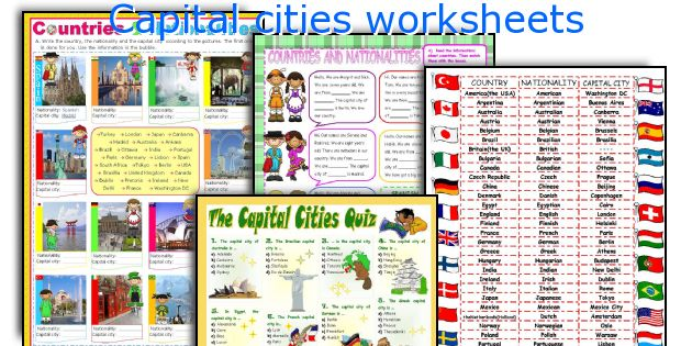 Capital cities worksheets