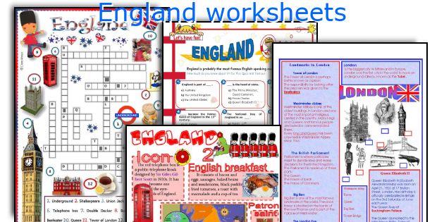 England worksheets
