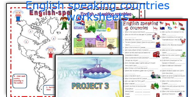 English Speaking Countries Worksheets