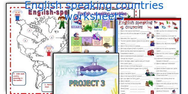 English teaching worksheets: English speaking countries