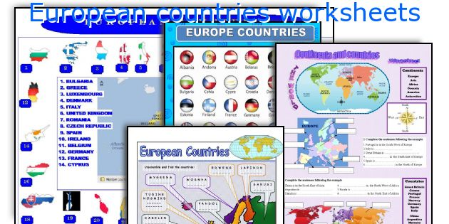 European countries worksheets
