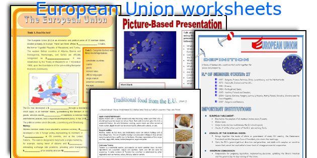 European Union worksheets