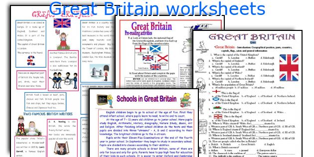 Great Britain worksheets