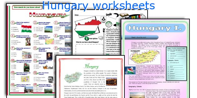 Hungary worksheets