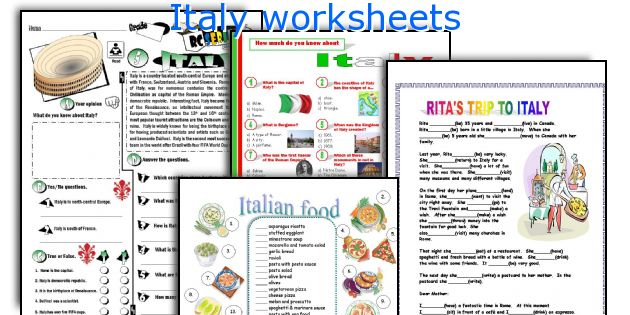 English teaching worksheets Italy – Italian Worksheets