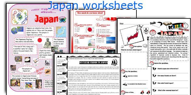 Japan Worksheets