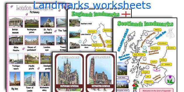 Landmarks worksheets