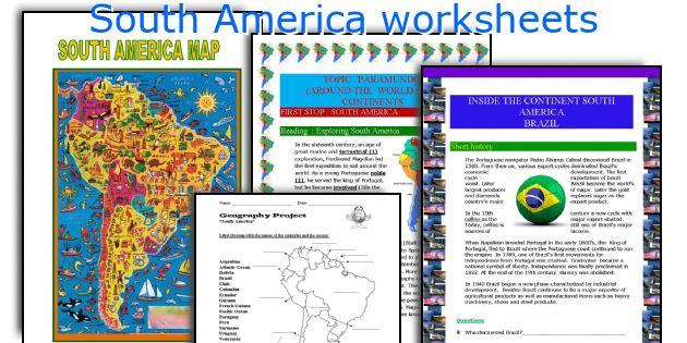 South America worksheets