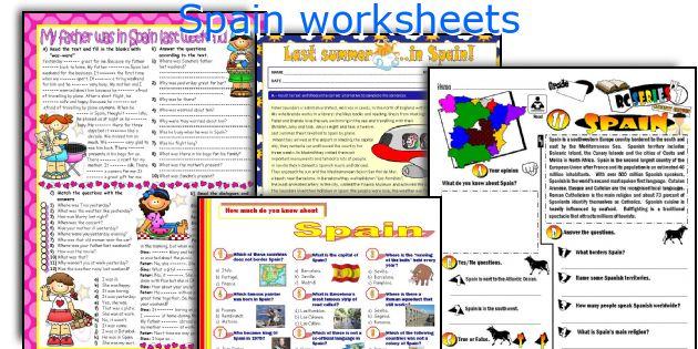Spain worksheets