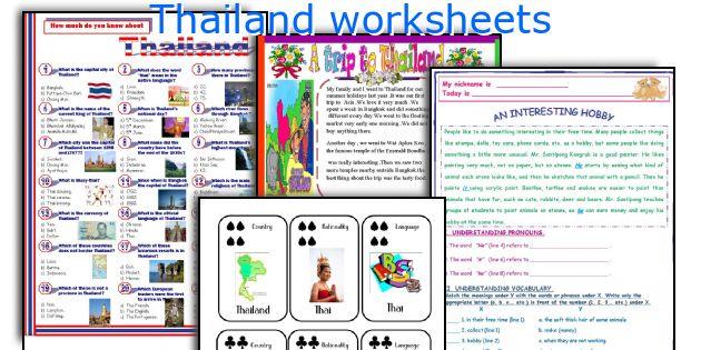 Thailand worksheets