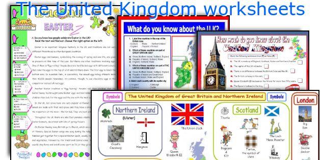 The United Kingdom worksheets