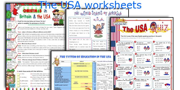 The USA worksheets