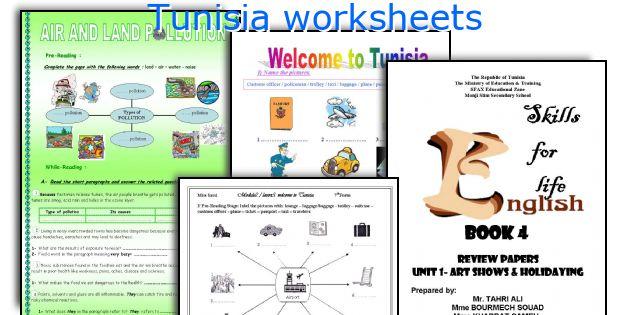 Tunisia worksheets