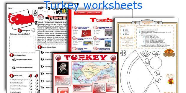 Turkey worksheets