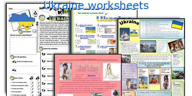 Ukraine worksheets