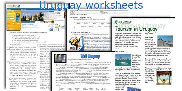 Uruguay worksheets