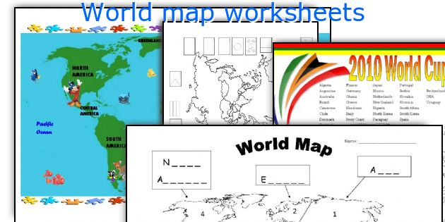 English teaching worksheets World map – World Map Worksheet