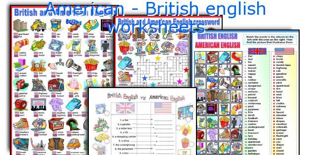 American - British english worksheets