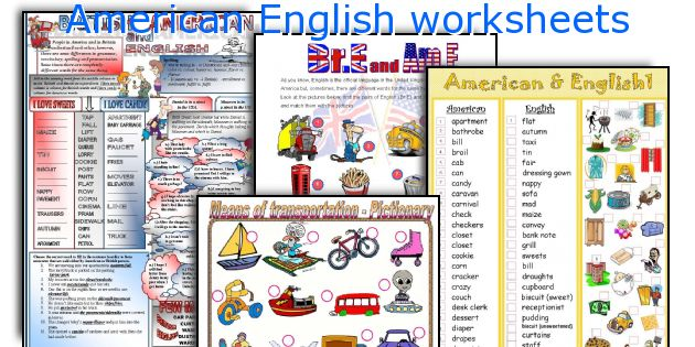 American English worksheets