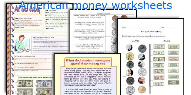 American money worksheets