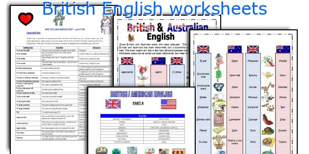 British English worksheets