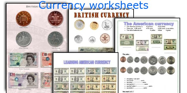 Currency worksheets