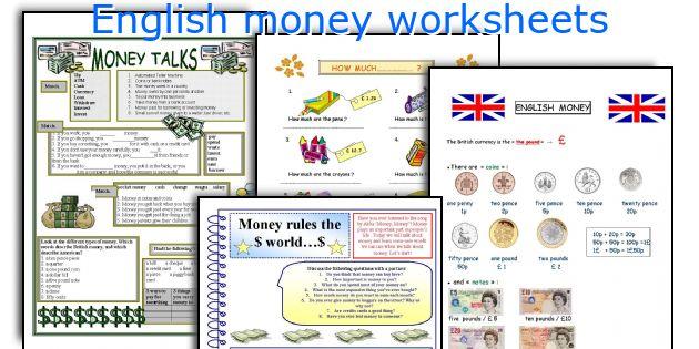 English money worksheets
