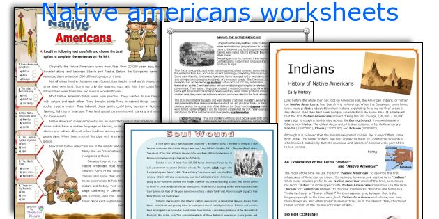 English teaching worksheets Native americans – Native American Worksheets