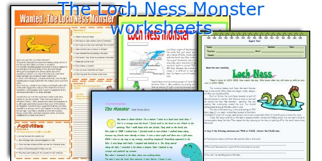 The Loch Ness Monster worksheets