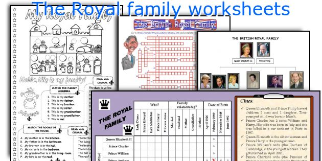 The Royal family worksheets