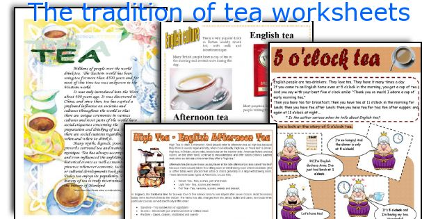 The tradition of tea worksheets