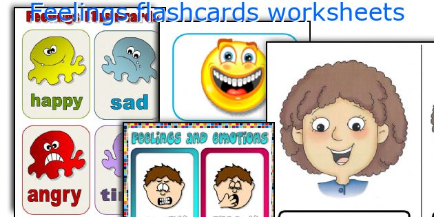 picture relating to Emotion Flashcards Printable known as Inner thoughts flashcards worksheets