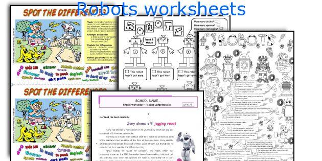 Robots worksheets