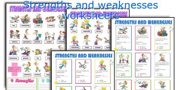 Strengths and weaknesses worksheets