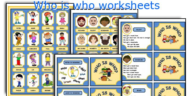 Who is who worksheets