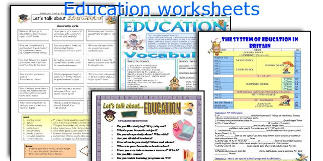 Education Worksheets. Worksheet. Education Worksheets At Mspartners.co