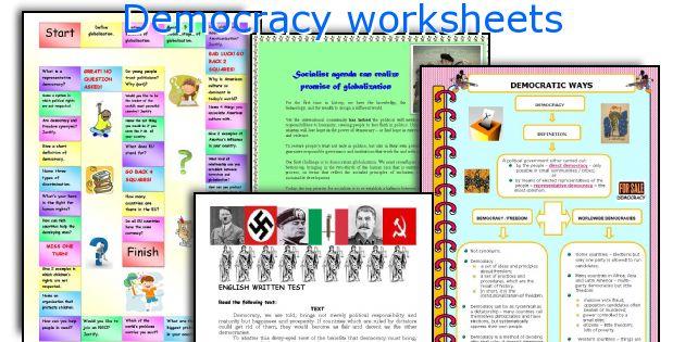 Democracy worksheets