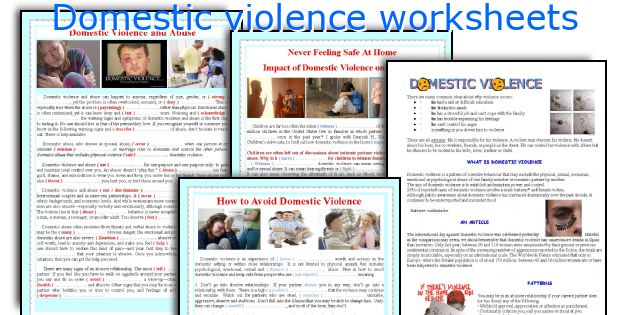 Printables Domestic Violence Worksheets english teaching worksheets domestic violence