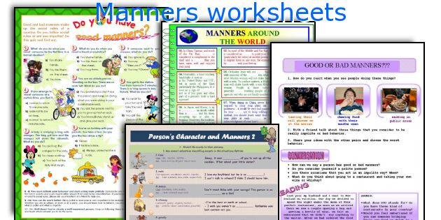 English teaching worksheets Manners – Manners Worksheet