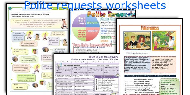 English teaching worksheets: Polite requests