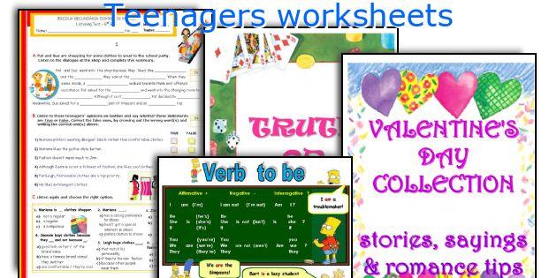 Teenagers worksheets