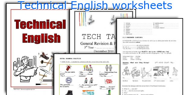Technical English worksheets