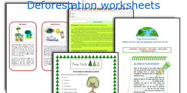 Deforestation worksheets