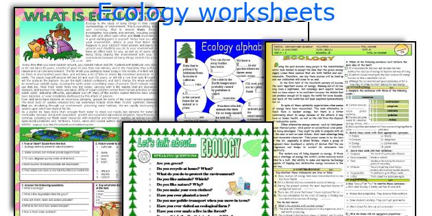 English teaching worksheets Ecology – Ecology Worksheets