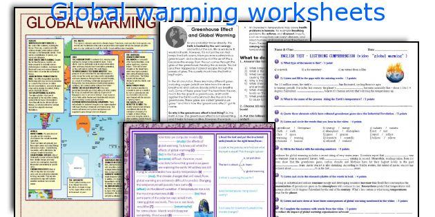 Global Warming Worksheets