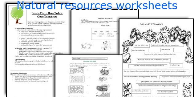 English teaching worksheets Natural resources – Natural Resources Worksheets