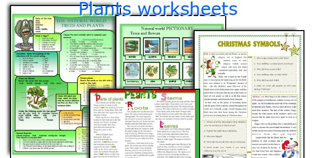 Plants worksheets