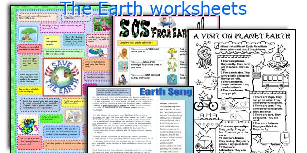 The Earth worksheets