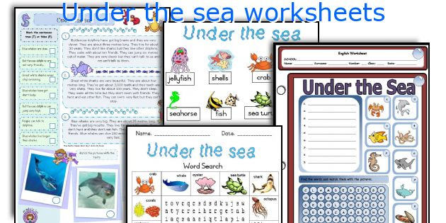 English teaching worksheets: Under the sea